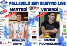 Pallavolo San Giustino Live: inaugura la rubrica capitan Conti. Prossimo appuntamento venerdì pomeriggio con l'ex Sir Marko Podrascanin